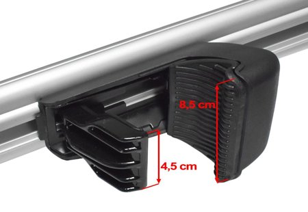 Bagażnik dachowy na relingi, aluminiowy, dł.125 cm