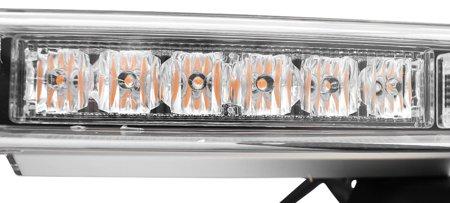 Belka / kogut / pomoc drogowa pomarańczowa 96 LED, 20 programów świecenia