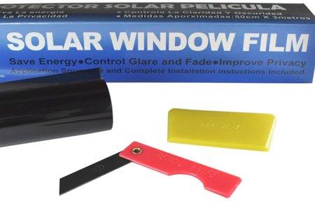 Folia do przyciemniania szyb termokurczliwa - Black 90% przyciemnienia, 300x75cm